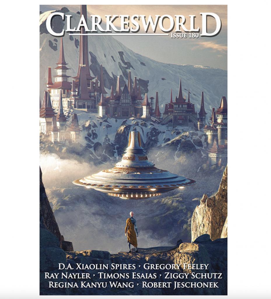 Корицата на Clarkesworld Magazine 180